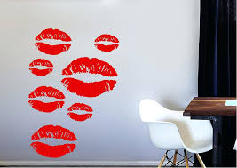 contemporary lipstick galore wall stickers red lips art mirror on red lipstick wall art with red glitter lips wall art big red lips wall art mirror face modern
