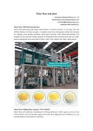 Flour Milling Plant Design Maize Corn Flour Mill Plant Manufacture Design And