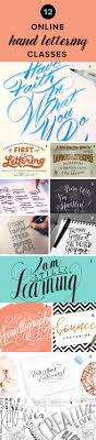 learn hand lettering online with these online classes
