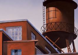 The Water Tower Painting by Duane Gordon
