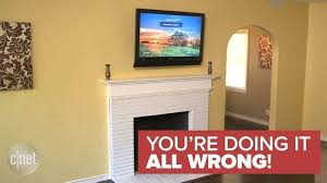 tv above fireplace too high new don t mount a tv above a fireplace cnet
