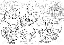 Download Coloring Pages Farm Cool Farm Animals Coloring Pages