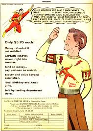 captain marvel sweaters 3 95 each circa 1940 s words cannot convey how badly i
