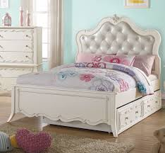 white upholstered twin bed.  Bed In White Upholstered Twin Bed T