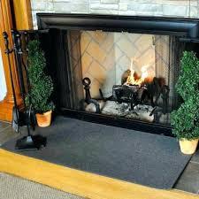 4 rectangle charcoal guardian fireplace rug fiberglass hearth uk