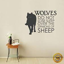 Amazon Ditooms Wolf Wall Decals Quotes Wolves Do Not Lose Sleep Stunning Wall Decal Quotes