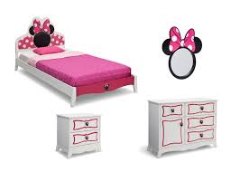 Minnie Mouse Bedrooms Minnie Mouse Wooden Twin Bedroom Collection Delta Childrens