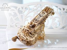 ugears hurdy gurdy 3d puzzle wooden al model brain teaser diy craft set