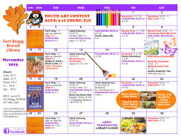 November November Calendar November Calendar Of Events 2019 Fort Bragg Library