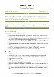Example Test Cases For Manual Testing Pdf Test Analyst Resume Samples Qwikresume