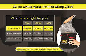 Sweet Sweat Waist Trimmer Size Guide Waist Trainer Reviews