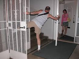 holding the doors