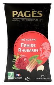 <b>Чай черный Pages Fraise</b> rhubarbe в пакетиках — купить по ...