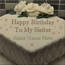10 Flo Sister Birthday Cakes Photo Happy Birthday Sister Cake