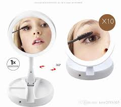 10x fold away lighted travel makeup mirror d111a lovely my fold away mirror led makeup folding usb lighted vanity mirror