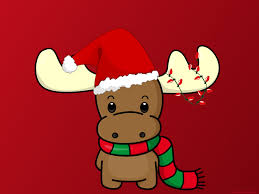 Happy Christmas Reindeer with Hat ...