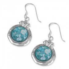 <b>925 Sterling Silver Roman</b> Glass Earrings, <b>Roman</b> Glass Jewelry ...
