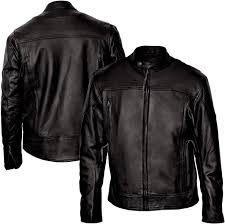 interstate leather men s beretta black leather jacket