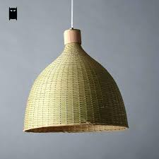 grass lamp shade gorgeous burlap drum chandelier woven wicker rattan palm tree shades with trees lighting