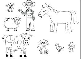 Farm Animals Coloring Activity Printable Coloring For Babies Amvame