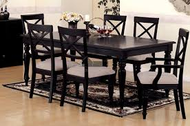 black wood dining room set for fine black dining room table with leaf dining images black wood dining room