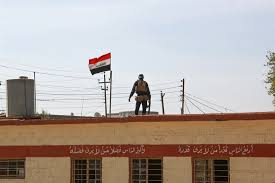 isis main office. An Iraqi Federal Police Officer Provides Security For Students At A Primary School In Aski Mosul Isis Main Office
