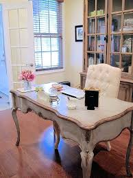 French country office furniture Distressed Home Office French Country Desk French Country Study Styling Ideas To Work As Both Home Office And French Country Vietfirsttourcom French Country Desk French Style Desk Chair French Country Office