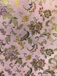 Floral Brocade Details About Blush Pink Multicolor Metallic Floral Brocade Fabric 45 In Sold By The Yard