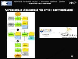 Применение процессного подхода в организации управления проектами маш  Организация управления проектной документацией Актуальность Регламент Реестр регламента и реестра 15 16