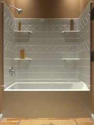 60 4 piece tiled tub shower