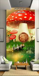 3d wallpaper custom room mural photo wall paper cartoon big mushrooms tv background wall painting sticker sofa bedding room in wallpapers from home
