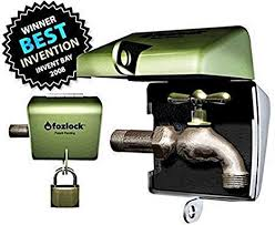 fozlock outdoor faucet lockout system insulated garden hose bibb and spigot lock and cover