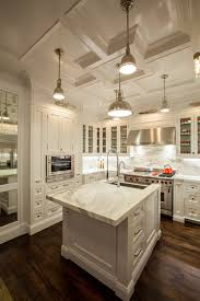 Kitchen Counter Marble Kitchen Island Design Countertop Is Statuario Marble Hardware Is