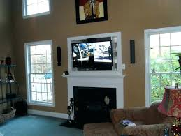 awesome tv over fireplace where to put components and over fireplace where to put components above fireplace where to put cable box over pros and cons 94 tv