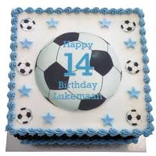 Football Birthday Cake Flecks Cakes