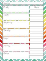 Weekly Calendar Free Print Home Management Binder Weekly Calendar Home Management