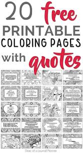 Printable Quote Coloring Pages 20 Free Coloring Quotes
