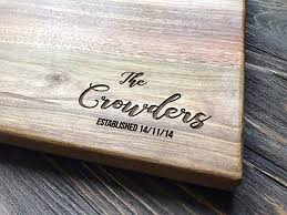 personalized cutting board custom couple family oak home sweet home wood engraved wedding gift anniversary housewarming birthday bridal shower