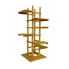 h 6 tier wooden pedestal