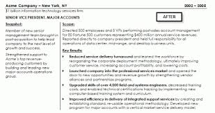 Example resume after rewriting