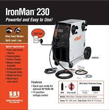 hobart 500536 ironman 230 mig welder with wheel kit & cylinder rack hobart beta mig 250 wiring diagram at Hobart Beta Mig 250 Wiring Diagram