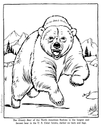 Small Picture Grizzly Bear coloring pages Zoo animals