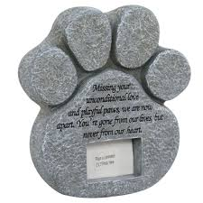 details about pet memory memorial paw stones plaque grave marker headstone frame for dog cat