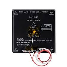 <b>3D Printer Parts</b> MK3 heatbed <b>214*214</b>*3mm+LED+Resistor+100K ...