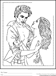 Twilight Coloring Pages Edward And Bella