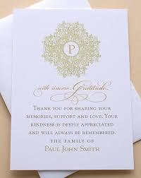 Personalized Sympathy Thank You Cards Sympathy Thank You Card With Pink Orchids Personalized Flat Flat