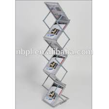 Acrylic Flyer Display Stand Aluminum Acrylic Brochure Display Rack 100a100 Pockets Zig Zag 58
