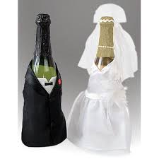 details about bride and groom wine champagne bottle covers set of 2 by victoria lynn
