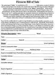 Firearms Bill Of Sale Florida Firearm Bill Of Sale Florida