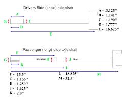 Dana 44 Front Axle Shaft Length Chart Index Of Vehicles Xj Tech
